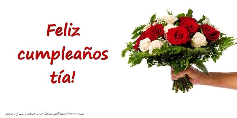Felicitaciones De Cumpleaños Para Tía Ramo De Flores De Feliz