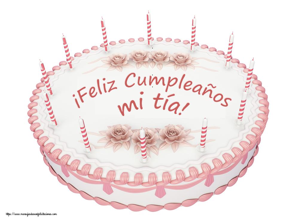 Felicitaciones de cumpleaños para tía - ¡Feliz Cumpleaños mi tía! - Tartas