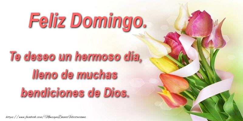 Te deseo un hermoso día, lleno de muchas bendiciones de Dios. Feliz Domingo.
