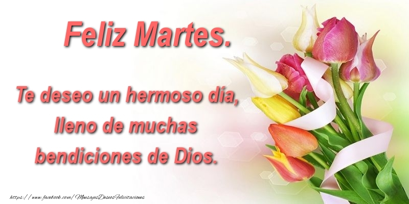 Te deseo un hermoso día, lleno de muchas bendiciones de Dios. Feliz Martes.