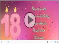 18 años - Hoy es tu birthday.