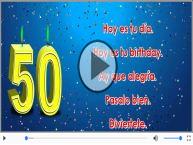 50 años - Hoy es tu birthday.