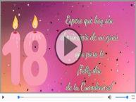 18 años - ¡Feliz día  de tu Cumpleaños!