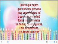 Feliz cumpleaños, ¡Te deseo lo mejor!