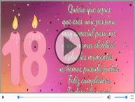 18 años - Feliz cumpleaños, ¡Te deseo lo mejor!