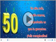 50 años - Feliz cumpleaños
