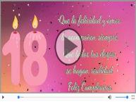 18 años - Feliz Cumpleaños.