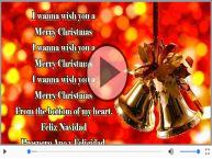 I wanna wish you a Merry Christmas